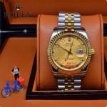 ROLEX-06-10 人氣熱銷商務男士間金系列日誌型藍寶石鏡面鋼帶款腕錶