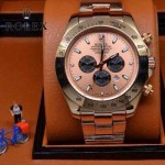 ROLEX-010-4 歐美新款宇宙型迪通拿玫瑰金系列大錶盤鋼帶款腕錶