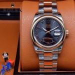 ROLEX-07-20 時尚新款商務男士間玫瑰金系列日誌型藍寶石鏡面鋼帶腕錶