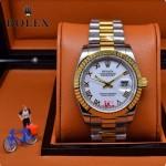 ROLEX-06-9 人氣熱銷商務男士間金系列日誌型藍寶石鏡面鋼帶款腕錶