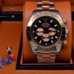 ROLEX-010-2 歐美新款宇宙型迪通拿間玫瑰金系列大錶盤鋼帶款腕錶