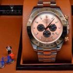 ROLEX-010 歐美新款宇宙型迪通拿間玫瑰金系列大錶盤鋼帶款腕錶