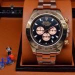 ROLEX-010-5 歐美新款宇宙型迪通拿玫瑰金系列大錶盤鋼帶款腕錶