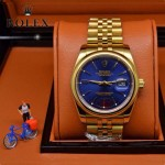 ROLEX-06 人氣熱銷商務男士日誌型藍寶石鏡面土豪金鋼帶款腕錶