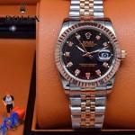 ROLEX-07-7 時尚新款商務男士間玫瑰金系列日誌型藍寶石鏡面鋼帶腕錶