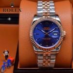 ROLEX-07-16 時尚新款商務男士間玫瑰金系列日誌型藍寶石鏡面鋼帶腕錶