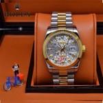ROLEX-06-14 人氣熱銷商務男士間金系列日誌型藍寶石鏡面鋼帶款腕錶