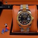 ROLEX-06-8 人氣熱銷商務男士間金系列日誌型藍寶石鏡面鋼帶款腕錶