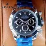 ROLEX-014-3 新款商務男士宇宙型迪通拿土閃亮銀鋼帶款腕錶