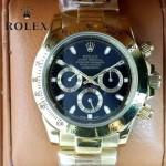 ROLEX-014-9 新款商務男士宇宙型迪通拿土豪金鋼帶款腕錶