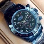ROLEX-015-5 時尚精英款宇宙型迪通拿槍色陶瓷腕錶