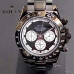 ROLEX-015-3 時尚精英款宇宙型迪通拿閃亮銀鋼帶款腕錶