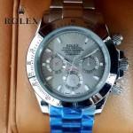 ROLEX-014-4 新款商務男士宇宙型迪通拿土閃亮銀鋼帶款腕錶