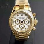 ROLEX-013-2 新款宇宙型迪通拿土豪金外圈鑲鑽款男士鋼帶腕錶