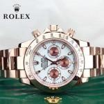 ROLEX-015 時尚精英款宇宙型迪通拿玫瑰金鋼帶款腕錶
