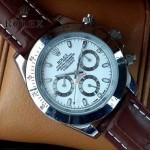 ROLEX-012-13 新款商務男士宇宙型迪通閃亮銀外圈皮帶款腕錶