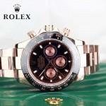 ROLEX-015-2 時尚精英款宇宙型迪通拿玫瑰金鋼帶款腕錶