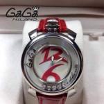 GAGA-61 專櫃新款時尚女士紅色銀圈活力走珠系列腕錶
