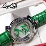 GAGA-54 專櫃新款時尚女士綠色銀圈活力走珠系列腕錶