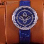 LV-0012 新款潮流女士全藍色銀圈Les Ardentes高級珠寶鑲鑽系列腕錶