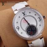 LV-0023 新款潮流女士全白色銀圈陀飛輪藍寶石鏡面瑞士石英腕錶