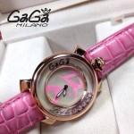 GAGA-57 專櫃新款時尚女士粉色金圈活力走珠系列腕錶