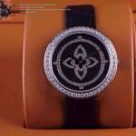 LV-0014 新款潮流女士全黑色銀圈Les Ardentes高級珠寶鑲鑽系列腕錶