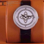 LV-0015 新款潮流女士黑配白銀圈Les Ardentes高級珠寶鑲鑽系列腕錶
