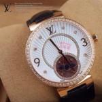 LV-0029 新款潮流女士黑色金圈陀飛輪藍寶石鏡面瑞士石英腕錶