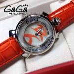 GAGA-53 專櫃新款時尚女士橙色銀圈活力走珠系列腕錶