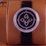 LV-009 新款潮流女士全黑色金圈Les Ardentes高級珠寶鑲鑽系列腕錶