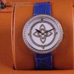 LV-0013 新款潮流女士藍配白銀圈Les Ardentes高級珠寶鑲鑽系列腕錶