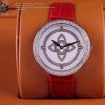 LV-0010 新款潮流女士紅配白銀圈Les Ardentes高級珠寶鑲鑽系列腕錶