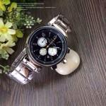 LV-0037 時尚最新款潮流男士黑色錶盤多功能鋼帶腕錶
