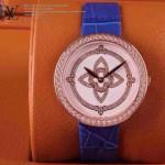 LV-007 新款潮流女士藍配白金圈Les Ardentes高級珠寶鑲鑽系列腕錶
