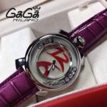 GAGA-64 專櫃新款時尚女士紫色配紅色銀圈活力走珠系列腕錶