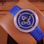 LV-005 新款潮流女士全藍色金圈Les Ardentes高級珠寶鑲鑽系列腕錶