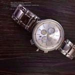 LV-0039 時尚最新款潮流男士白色錶盤多功能鋼帶腕錶