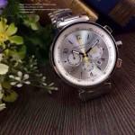 LV-0038 時尚最新款潮流男士白色錶盤多功能鋼帶腕錶