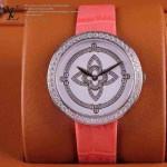 LV-0011 新款潮流女士粉配白銀圈Les Ardentes高級珠寶鑲鑽系列腕錶