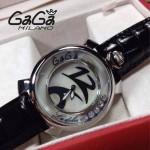 GAGA-65 專櫃新款時尚女士黑色銀圈活力走珠系列腕錶