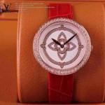 LV-006 新款潮流女士紅配白金圈Les Ardentes高級珠寶鑲鑽系列腕錶