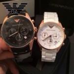 ARMANI-176 時尚潮流休閒六針計時土豪金情侶款進口原裝石英腕錶
