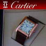 CARTIER-175 新款褐色土豪金劉德華代言同款男士商務機械腕錶