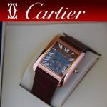 CARTIER-176 新款褐色土豪金劉德華代言同款男士商務機械腕錶