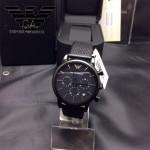 ARMANI-177 時尚潮流男士炫酷黑原單款石英腕錶