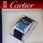 CARTIER-171 新款黑色閃亮銀劉德華代言同款男士商務機械腕錶