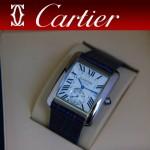 CARTIER-173 新款黑色閃亮銀劉德華代言同款男士商務機械腕錶