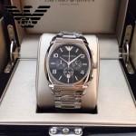 ARMANI-180 潮流新款男士六針設計原單鋼帶石英腕錶