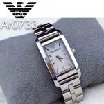 ARMANI-189 時尚潮流新款原單方形鋼帶石英腕錶